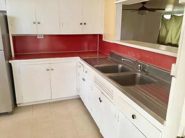 classic red kitchen, kuau maui