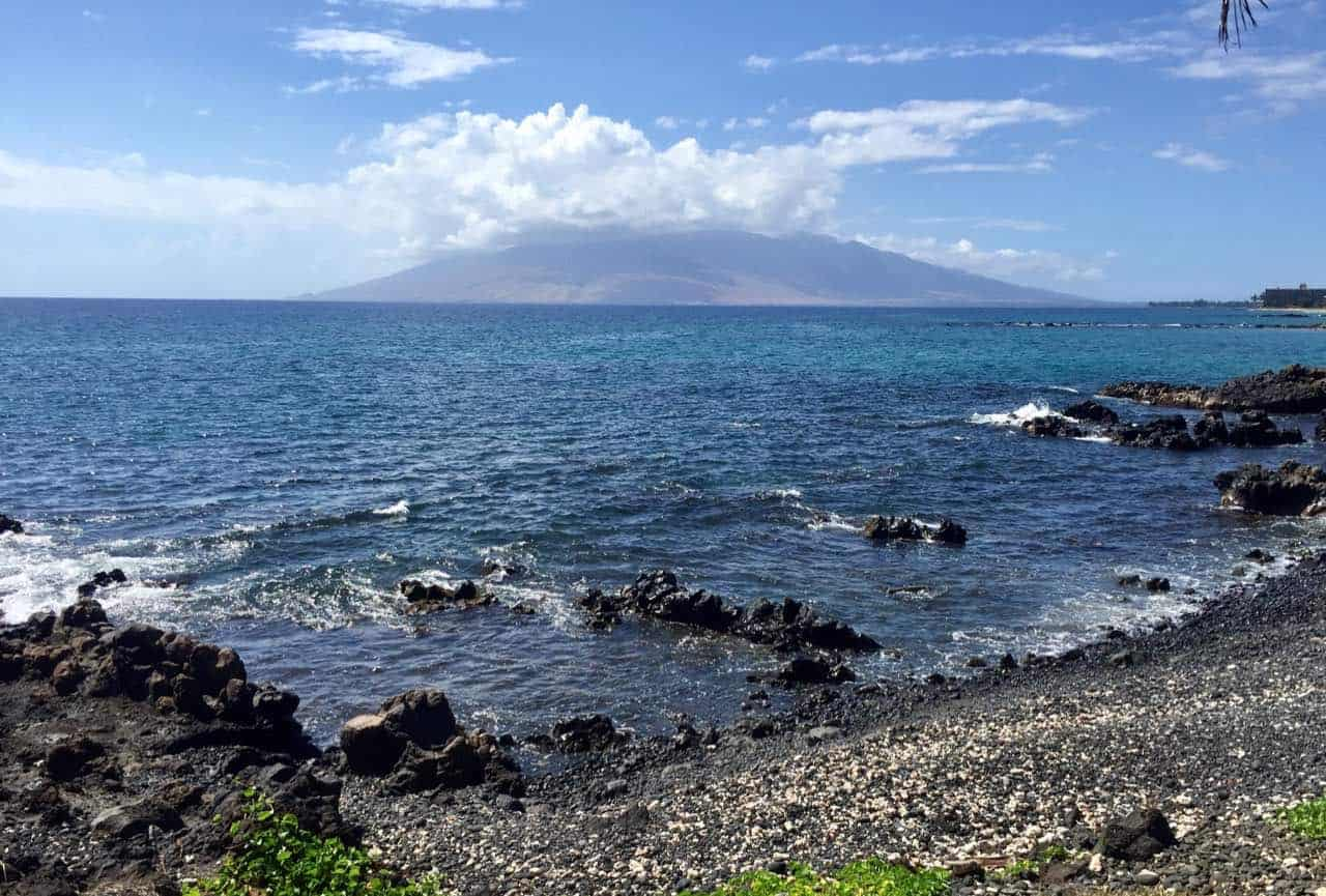 south maui shoreline view