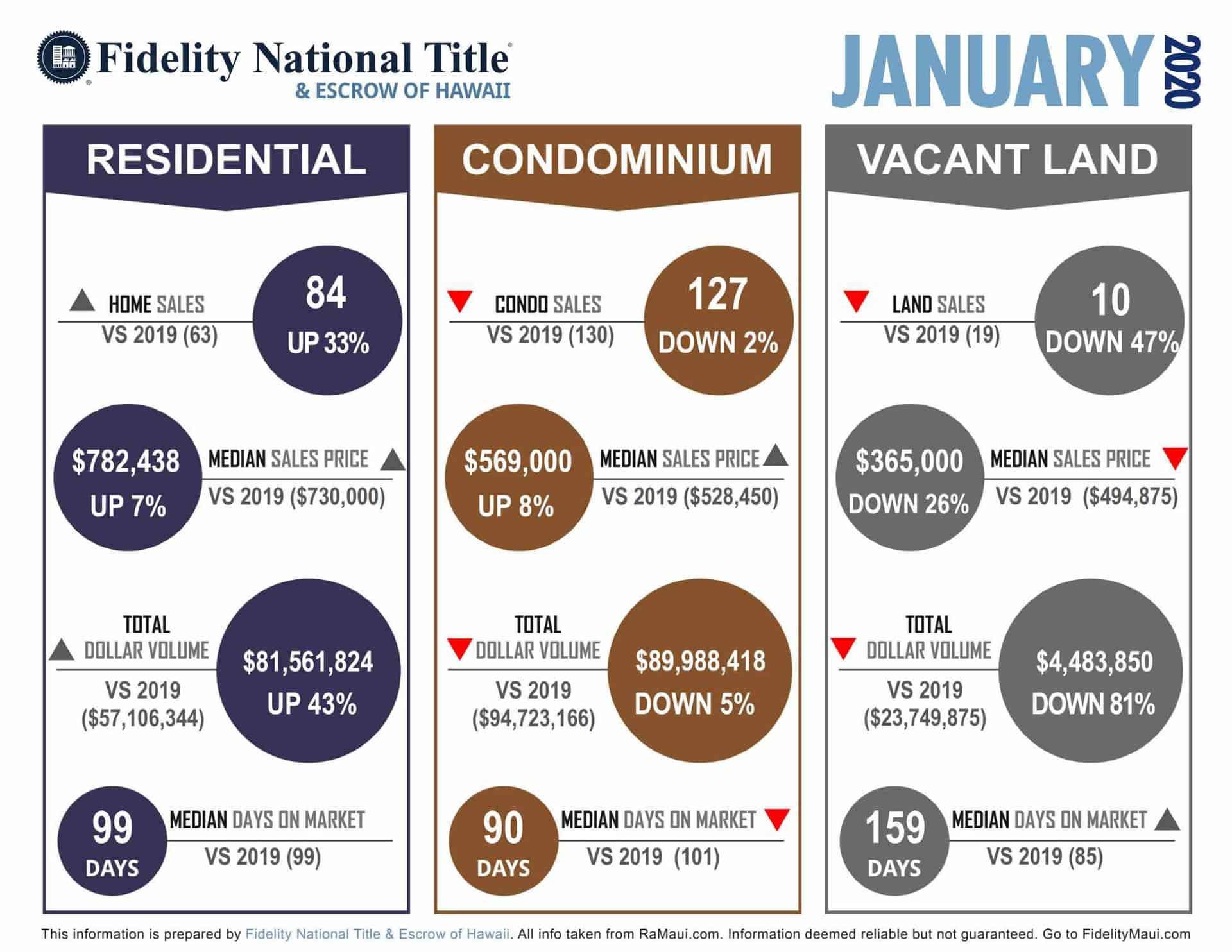 January 2020 Maui stats infographic