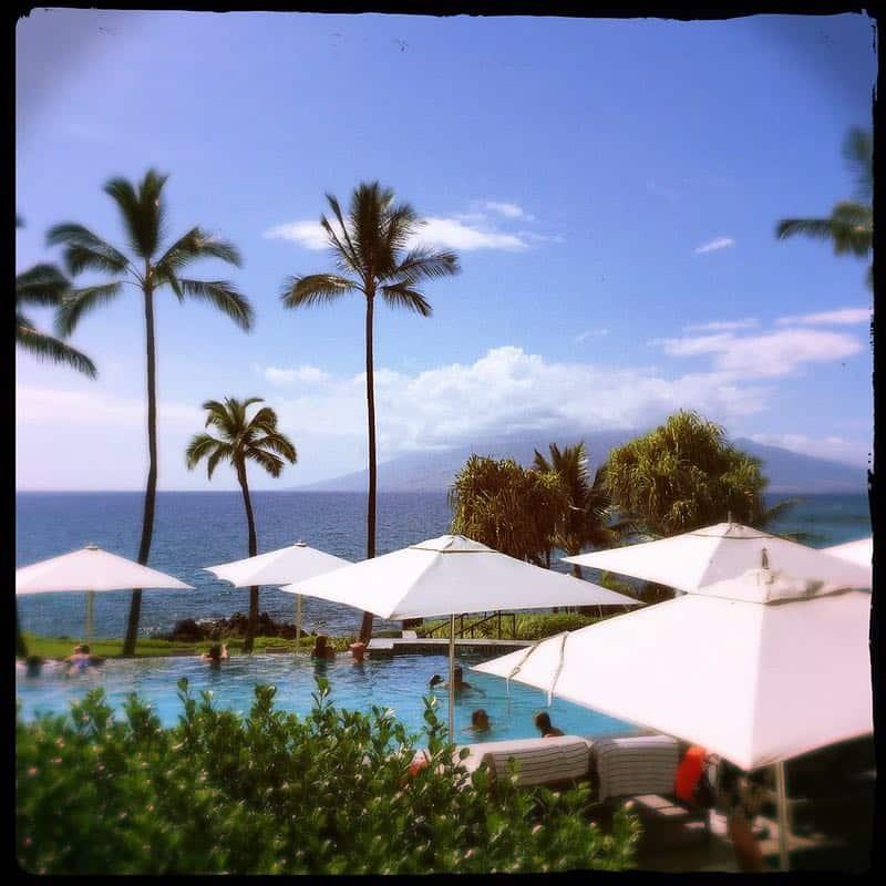 beach resort umbrellas