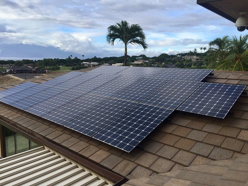 solar panels on a roof Maui