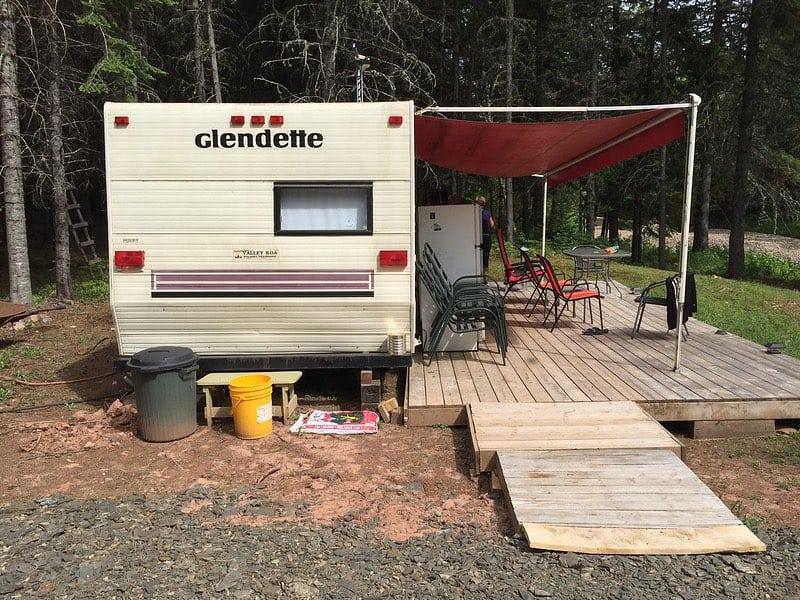 living in the camper