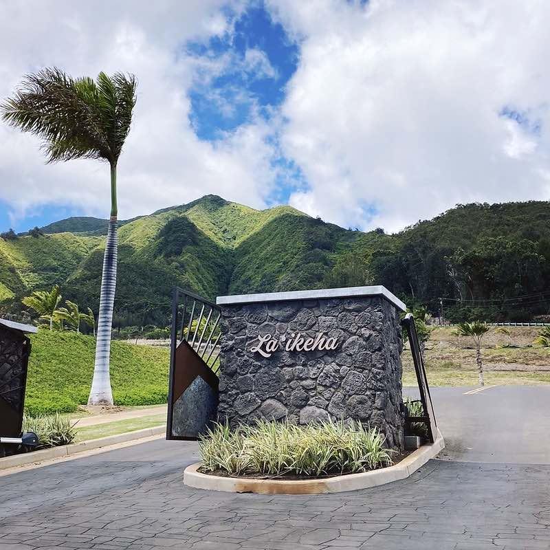gated entrance to La'ikeha at Kehalani