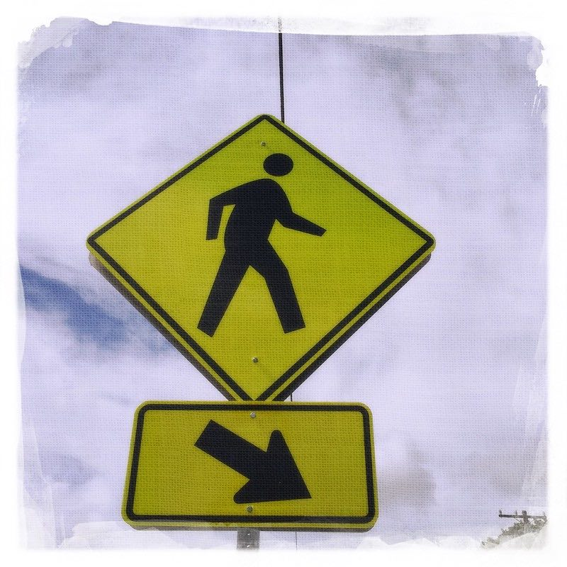 man walking this way