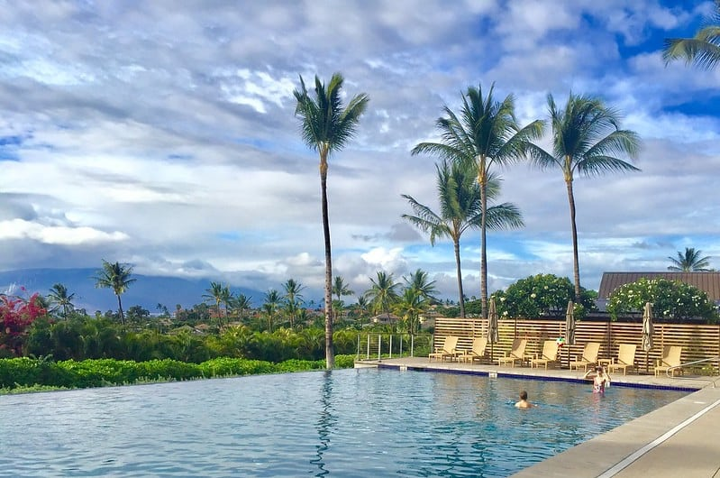 poolside at Papali Residences, Wailea Maui