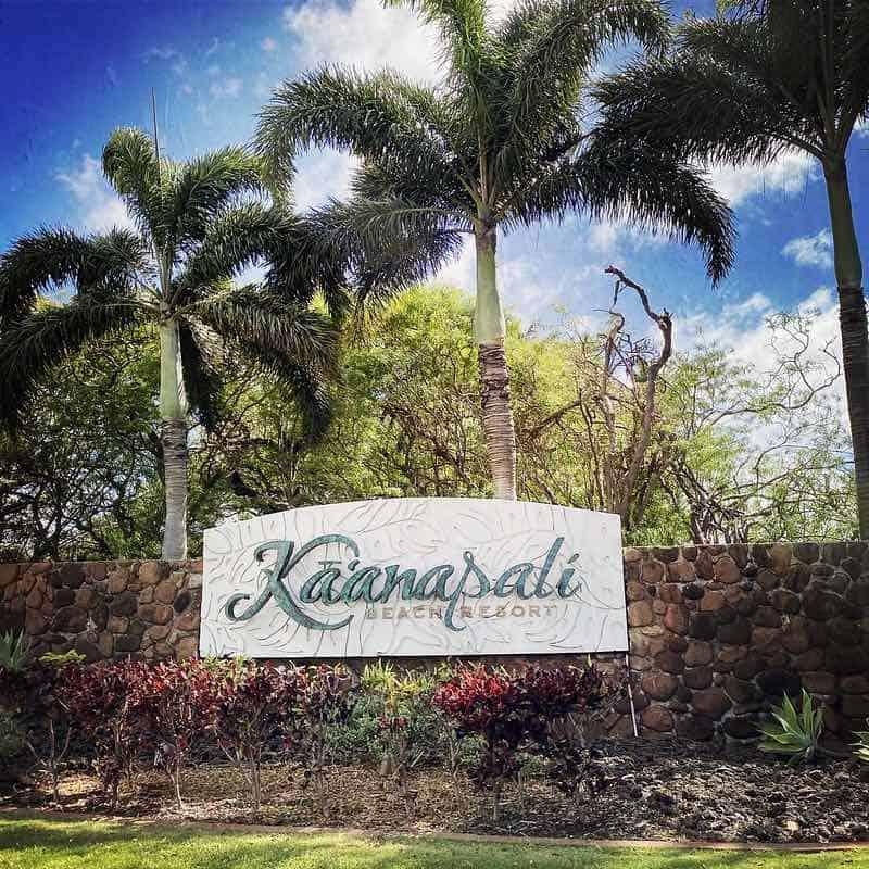 kaanapali resort sign