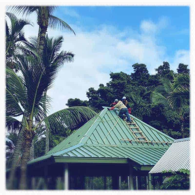 putting on a new roof in Wailuku Maui
