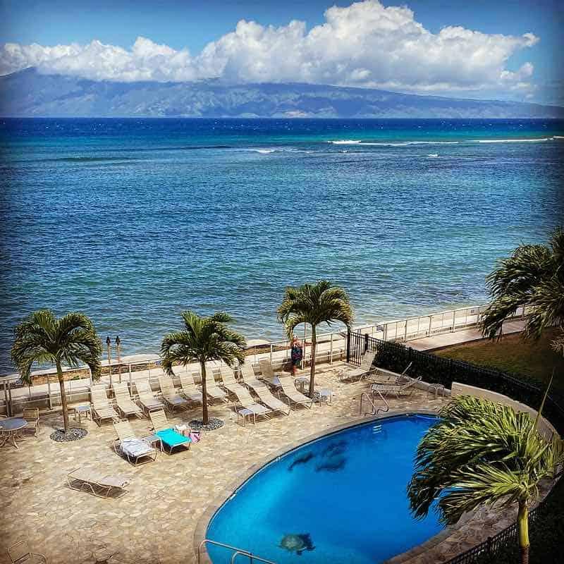 the pool and view at Hololani Maui