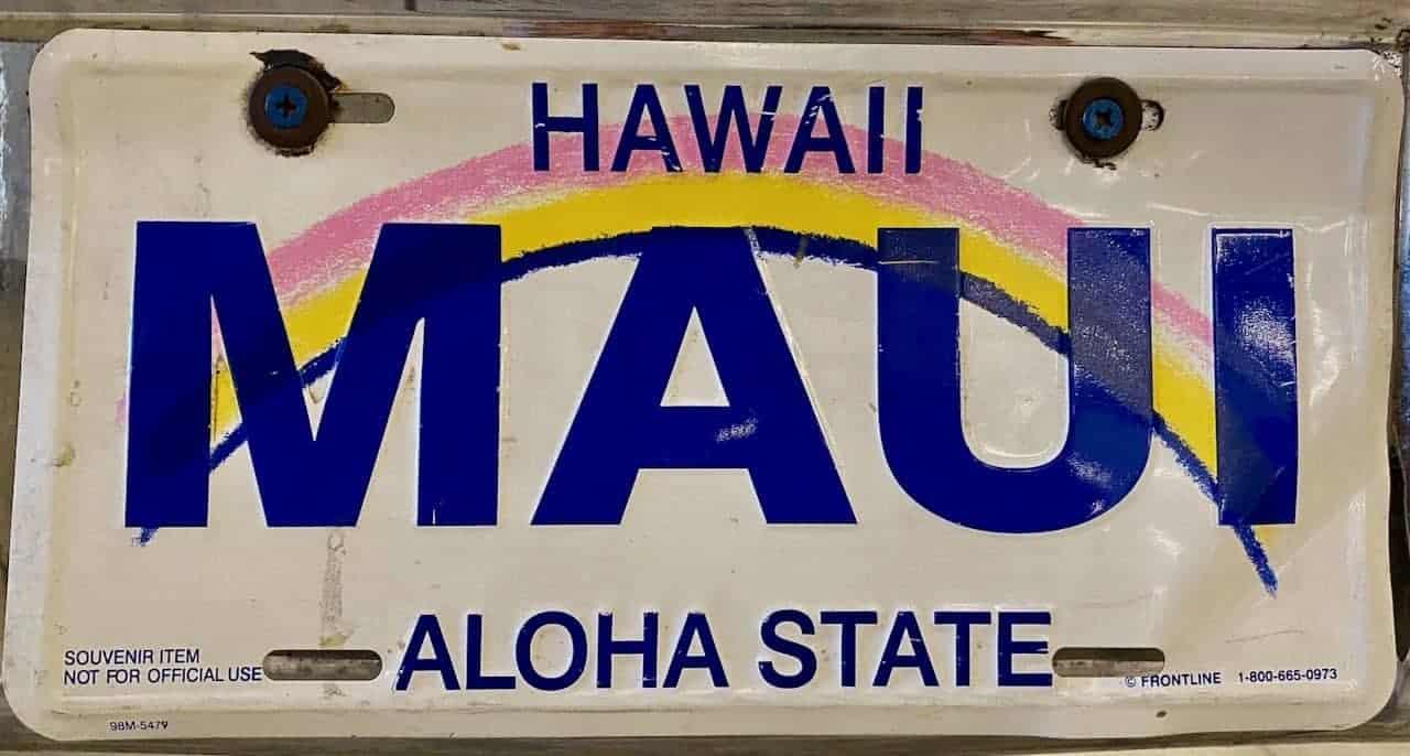 maui license plate