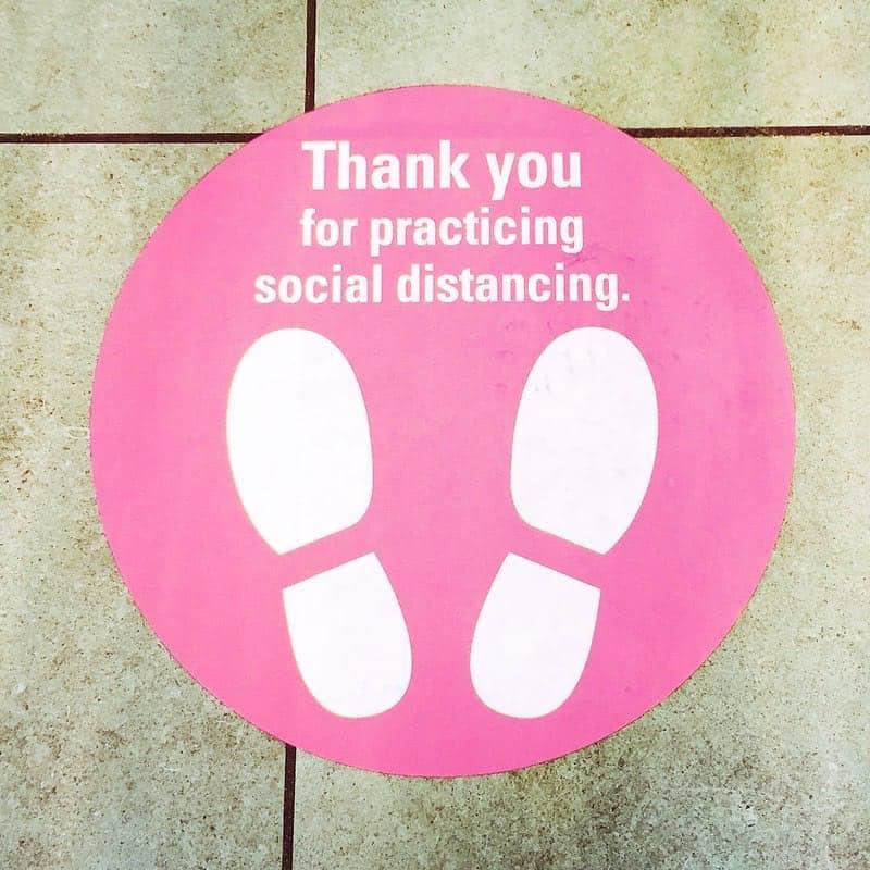 social distancing feet