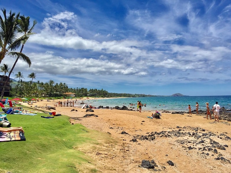 day at Keawakapu Beach on Maui