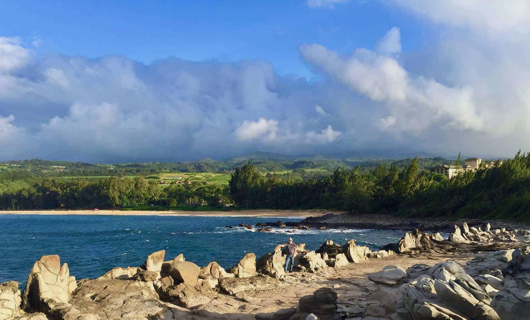 dragons teeth formation in Kapalua Maui